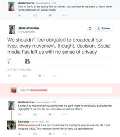 """Results from the """"social media privacy"""" search (Twitter 2016)"""